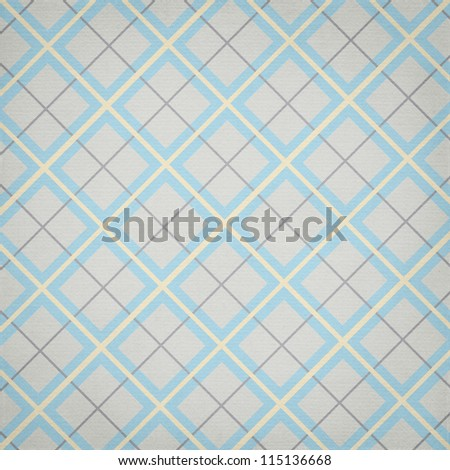plaid background in blue yellow and gray colors - stock photo