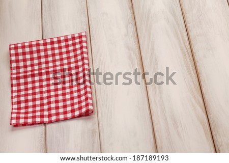 plaid cloth on picnic table picnic table stock photo royalty free