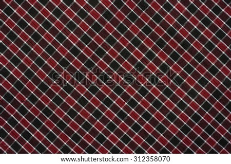 Plaid fabric surface texture - stock photo