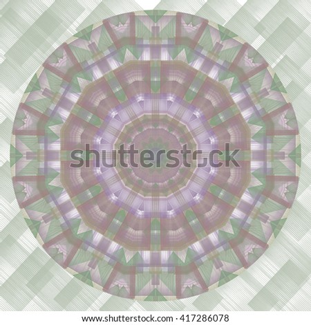 Plaid Green lavender white cream twirl twist kaleidoscope design pattern background backdrop pretty - stock photo