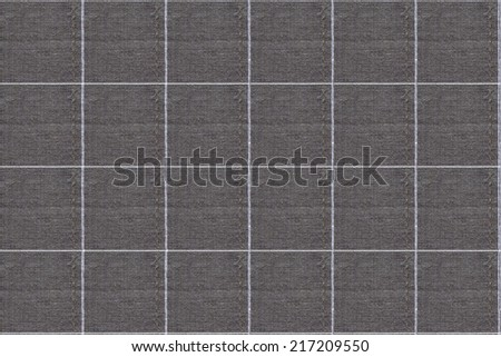 Plaid Pattern for Background, Fabric Plaid or Tartan Picnic Tablecloth Texture - stock photo