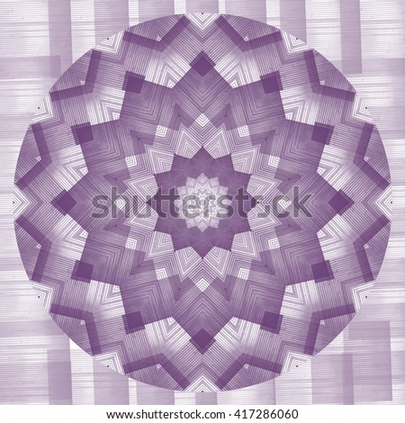 Plaid purple lavender white pink twirl twist kaleidoscope design pattern background backdrop Pleasing - stock photo