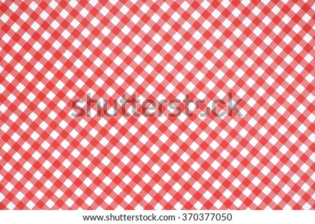 plaid red and white - stock photo