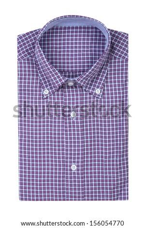 plaid shirt isolated on white background  - stock photo