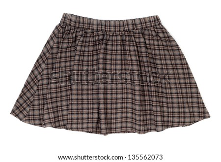 plaid skirt isolated on white background