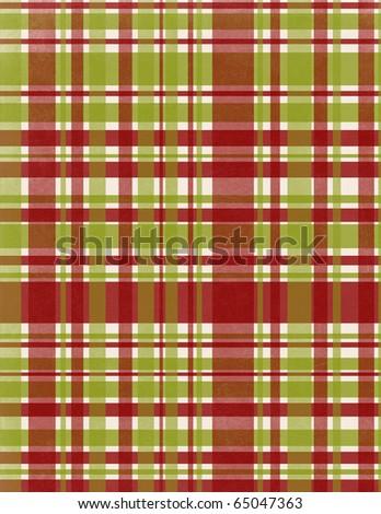 Plaid tablecloth - stock photo