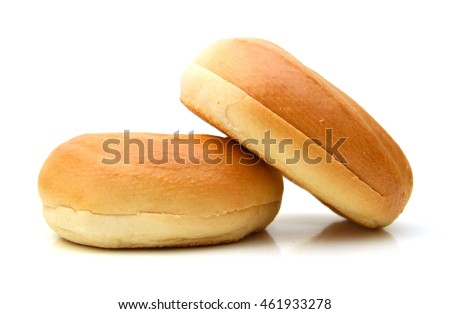 plain bagels on white background