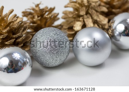 plain christmas decoration background