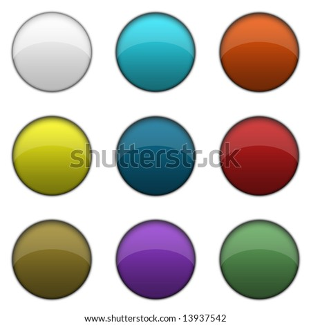 Plain Color Glossy Web Buttons