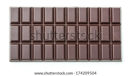 plain dark chocolate bar - stock photo