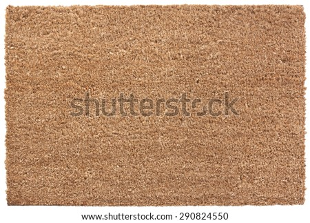 Plain Door Mat isolated on white with clipping path - stock photo