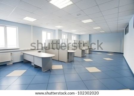 plain office space interior - stock photo