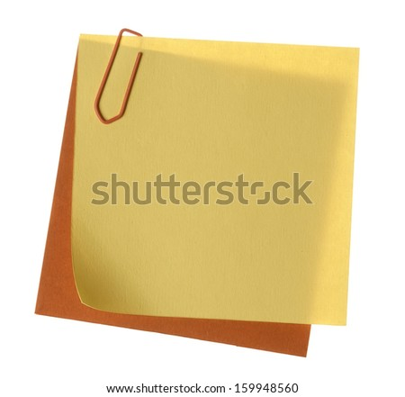 Plain paper notes with clip - stock photo