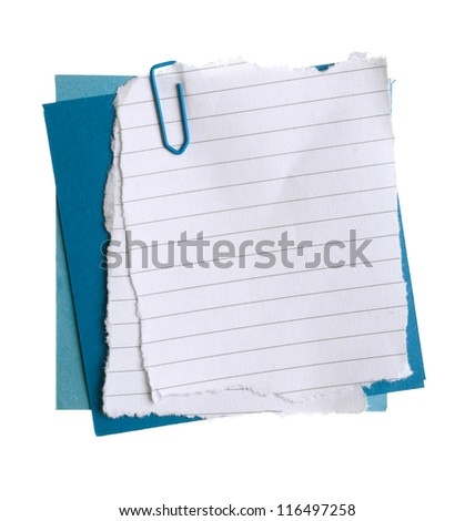 Plain paper notes with staple - stock photo