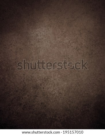 plain solid brown background with old distressed vintage grunge background texture with black vignette border, rich dark brown crackled painted wall texture, rustic country western background - stock photo
