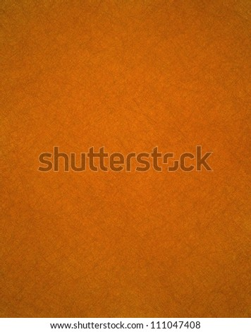 plain solid orange background with faint vintage grunge texture in warm fall or autumn color for Thanksgiving or Halloween backdrops in brochure ads or web template with copyspace for text or images - stock photo