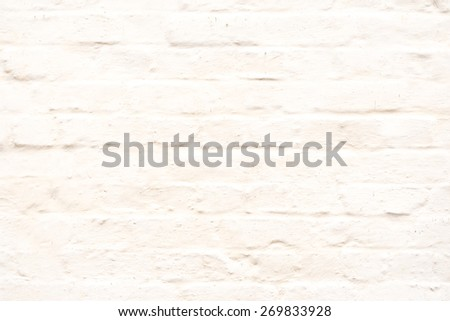 Plain White Washed Textured Brick Wall - stock photo