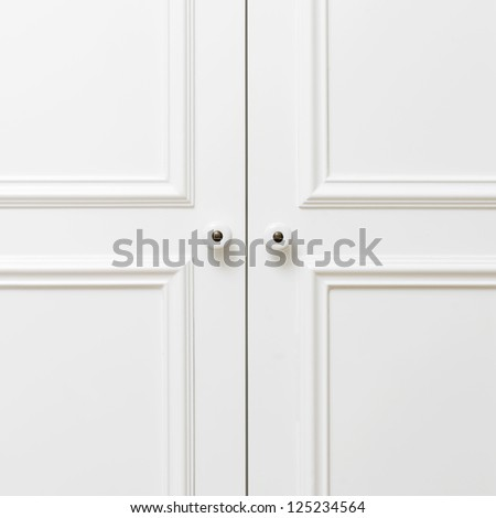 Plain white wooden doors