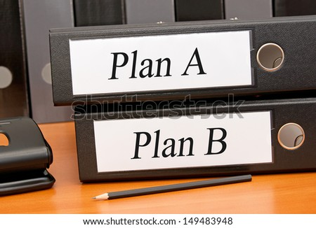 Plan A and Plan B - stock photo