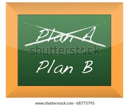 Plan A and Plan B on a blackboard - stock photo
