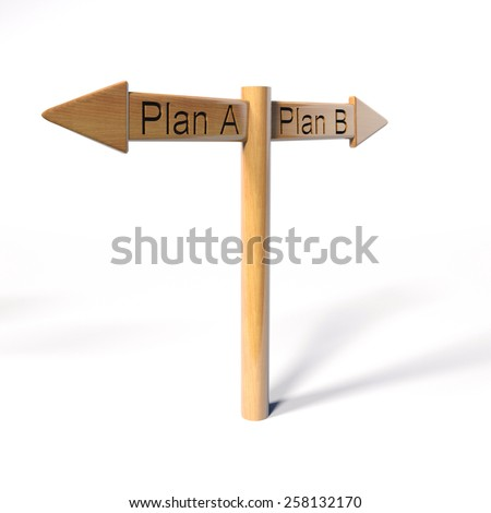 Plan A plan B - stock photo