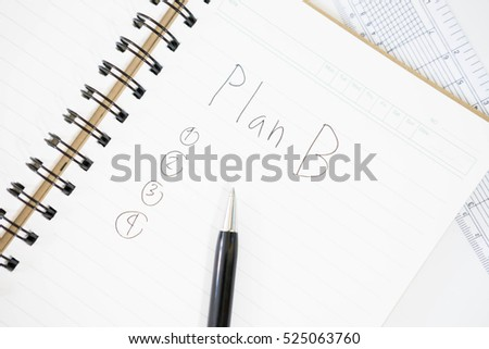 Plan B written on a blank notepad
