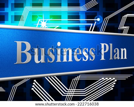 Plan Business Representing Plans Project And Proposition - stock photo