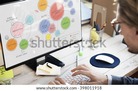 Plan Coworking Space Mind Mapping Concept - stock photo