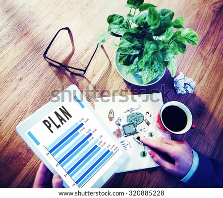 Plan Planning Analysis Business Strategy Concept - stock photo