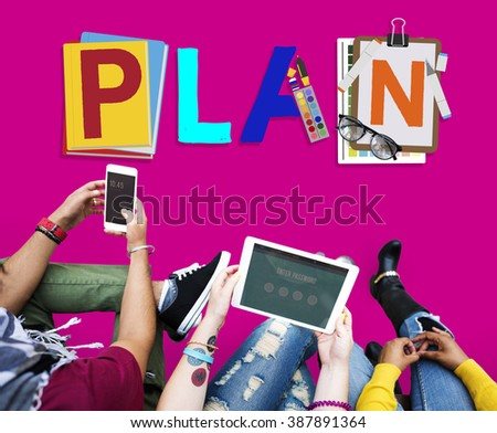 Plan Planning Strategy Process Mission Concept - stock photo