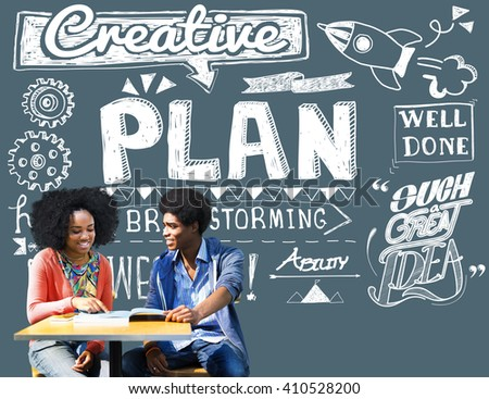 Plan Planning Vision Strategy Tactics Process Concept - stock photo