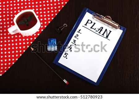 Plan. The concept of background and business