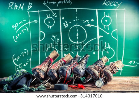 Plan to playing in ice hockey - stock photo