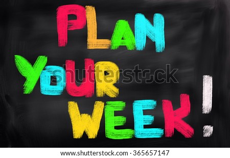 Plan Your Week Concept