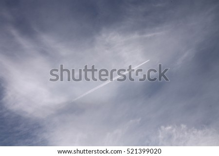 plane flying high in the sky