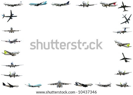 Plane frame isloated on white background. 5000 x 3333 pixels. - stock photo