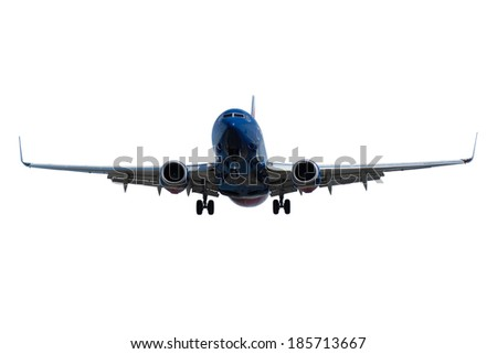 Plane is isolated on a clean white background.