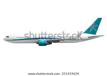 plane on the white backgrounds - stock photo