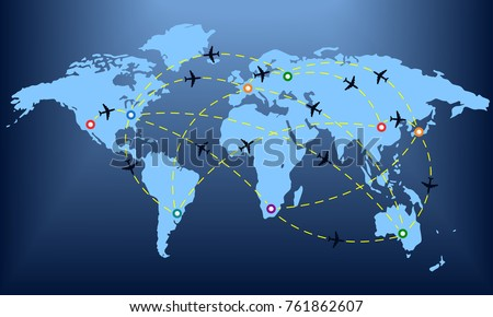 Flight Path Map Stock Images Royalty Free Images