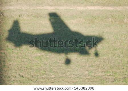 Plane Shadow - stock photo