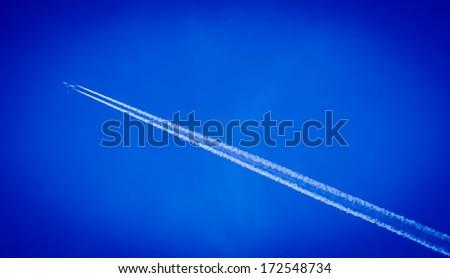 plane sky - stock photo