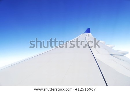 Plane wing - great for topics like flying, aviation etc.