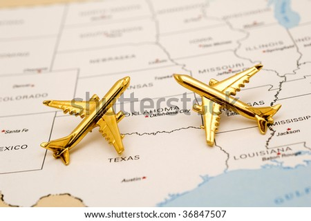Planes Over the Southwest. - stock photo