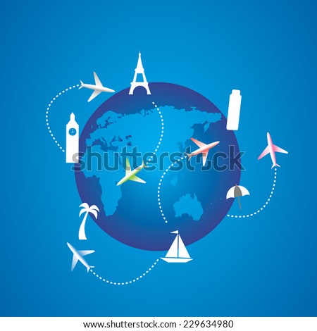 Planet and tourism - stock photo