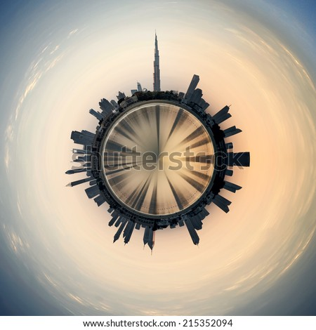 Planet Dubai - stock photo
