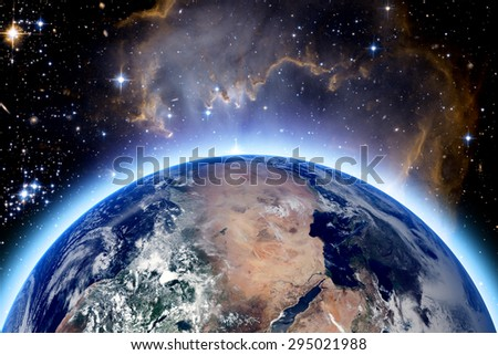 planet earth and star. Elements of this image furnished by NASA