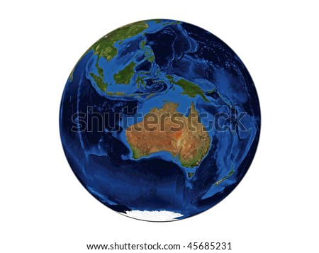 Planet Earth - Australia, data source: NASA