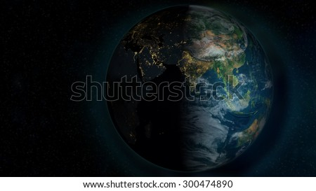 Planet Earth Background (Elements of this image furnished by NASA)