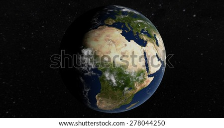 Planet Earth 3D Globe - Africa - Elements of this image furnished by NASA