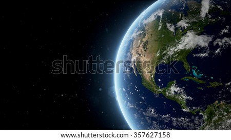 Planet Earth 3D Rendered Background (Elements of this image furnished by NASA) - stock photo